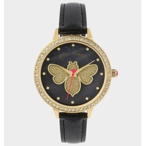 NIB BETSEY JOHNSON Gold GLITTER BEE Watch!